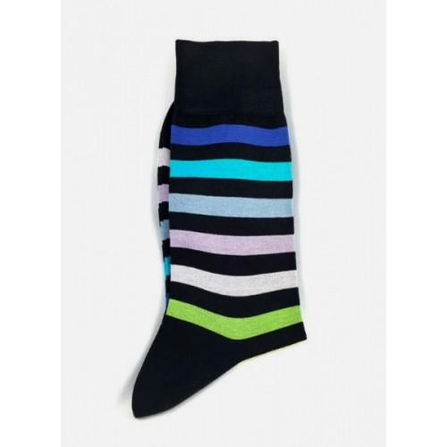 Ciorapi fashion barbati RIGHT LEFT model dungi galben-verde-bleu ART 3410-2