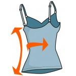 Maieu modelator cu bretele reglabile pentru femei BODYEFFECT 212145