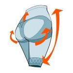 Chilot modelator cu talie inalta pentru femei cu piciorus si banda silicon Controlbody 410466