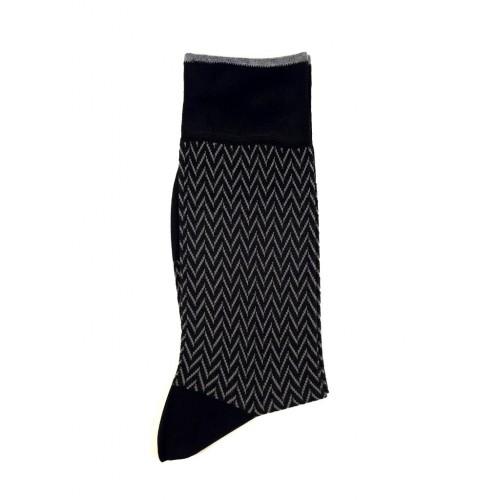 ART 3506-4 Ciorapi fashion barbati RIGHT LEFT model braduti gri pe fond negru