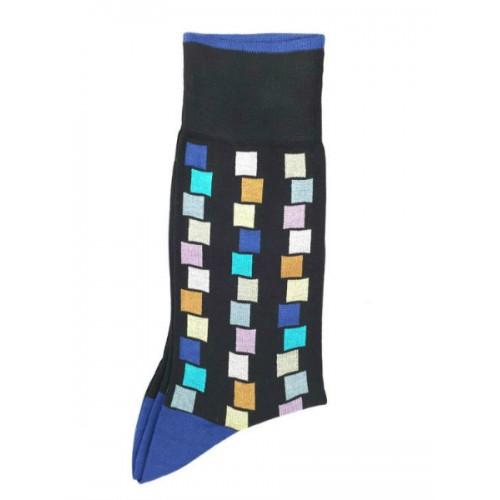 Ciorapi fashion barbati RIGHT LEFT model geometric-patratele ART 3610-3