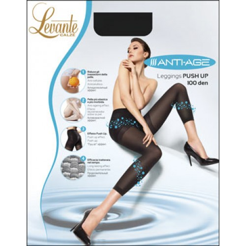 Colant modelator cu cristale bioactive ANTI-AGE LEGGINGS 100 DEN LEVANTE